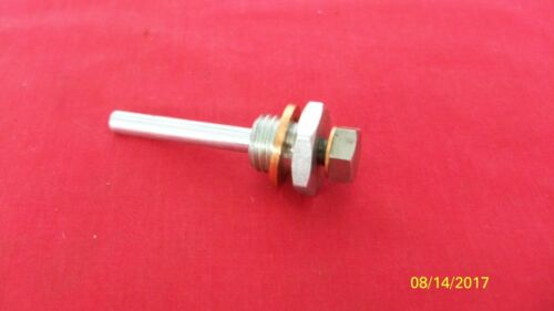 61-68 TRIUMPH 350 500 650 DRAIN PLUG W//LEVEL TUBE 57-1112 /& W//LEVEL PLUG UK MADE