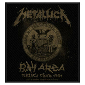 METALLICA-Bay-Area-Thrash-Woven-Sew-On-Patch-Offical-Band-Merch-Brand-New