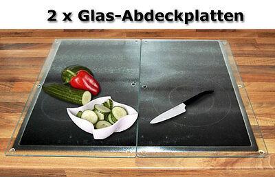 SET XXL Glasplatten 52x30cm Glasschneideplatte Schneideplatten Herdabdeckplatten