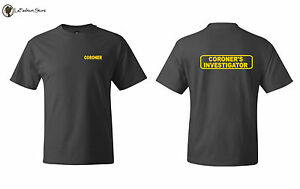 Coroner 39 S Investigator Official Law Enforcement T Shirts S