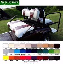 E-Z-Go TXT Golf Cart Custom Front & Rear Flip Seat Cover Combo Set - STAPLE ON