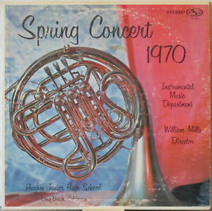 HUGHES-JUNIOR-HIGH-SCHOOL-Spring-Concert-1970-LP-w-Dance-Band-William-Mills
