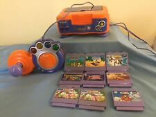 VTECH VSMILE TV LEARNING CONSOLE(for parts only)  SYSTEM CONTROLLER & 9 GAMES