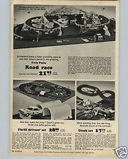 1965 PAPER AD Twin Peaks Toy Play Car Race Road Race Eaton's Crash Trik Trak