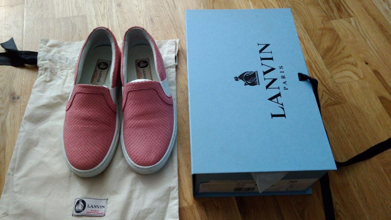 Lanvin Pink Leder Nora Slip on sneakers