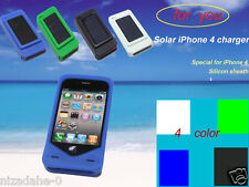 Solar battery charger for iphone4 Sillicone case/cover for your phone4/4s