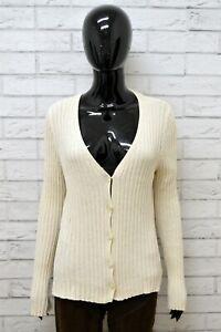 Cardigan-Donna-LUISA-SPAGNOLI-Taglia-L-Maglione-Pullover-Sweater-Woman-Cotone