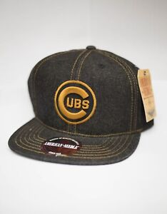 5ceec0a1 Details about American Needle Chicago Cubs Dark Denim Snapback Hat