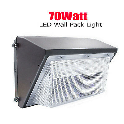 70W 100W 125Watt LED Wall Pack Light Outdoor Security Perimeter Area School Lamp