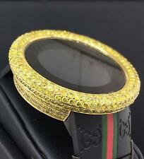 Gucci Digital 50mm GMT 2nd Time Zone 14CT Total Diamonds Ref. 114-2