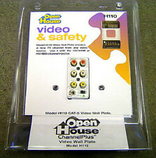 NEW Open House H110 Video Safety CAT5 Video Wall Plate
