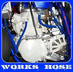 SUZUKI-RM-125-amp-250-RACE-TUBO-CARBURATORE-MANOVELLA-RADIATORE-CARBURANTE-KIT-Blu