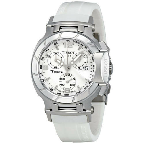 New Tissot T-Race White Rubber Chronograph Women's Watch T0482171701700