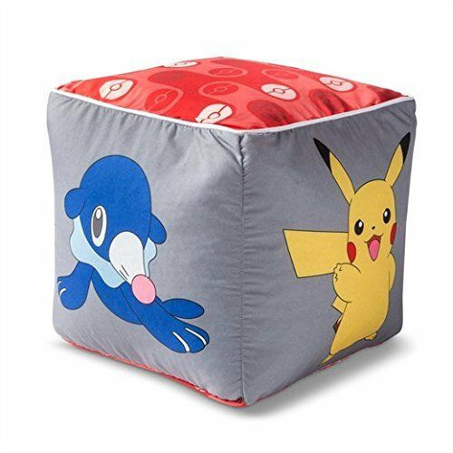 Pokemon Pikachu Gray Floor Pillow 12 X 12 inch