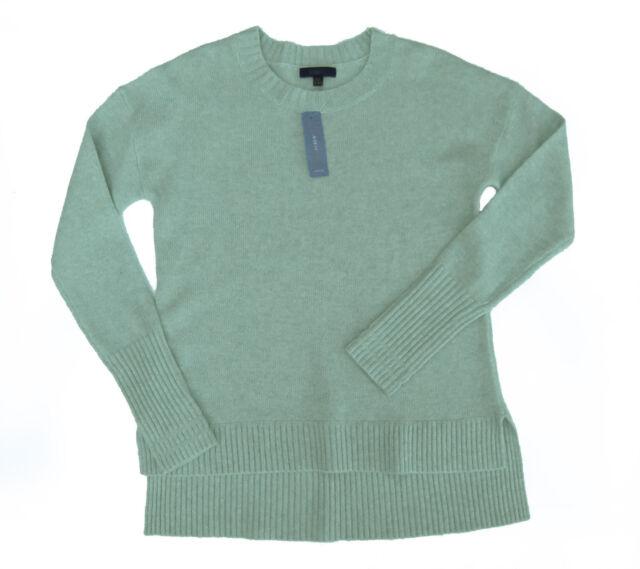 NWOT J Crew High-low Crewneck Sweater Petite M Heather River HOL 14 $79.50 C1814