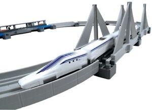 NEW-Plarail-Advanced-Superconducting-Maglev-L0-System-Elevated-Rail-Set-Japan