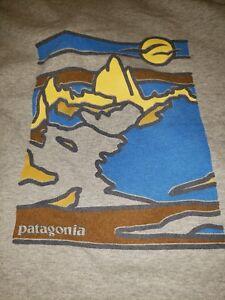 Patagonia Abstract Mountain En Coton Organique Léger Moyen Sweat À Capuche Gris Homme-afficher Le Titre D'origine