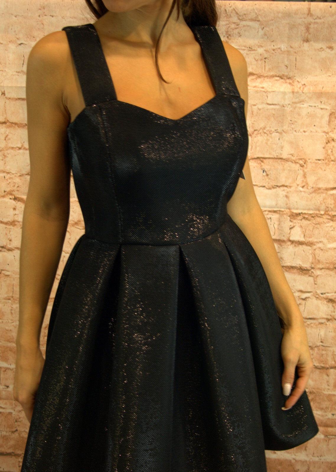 Abendkleid kurz Coctailkleid Herbst Winter Minikleid Kleid Gr. 36,38 schwarz