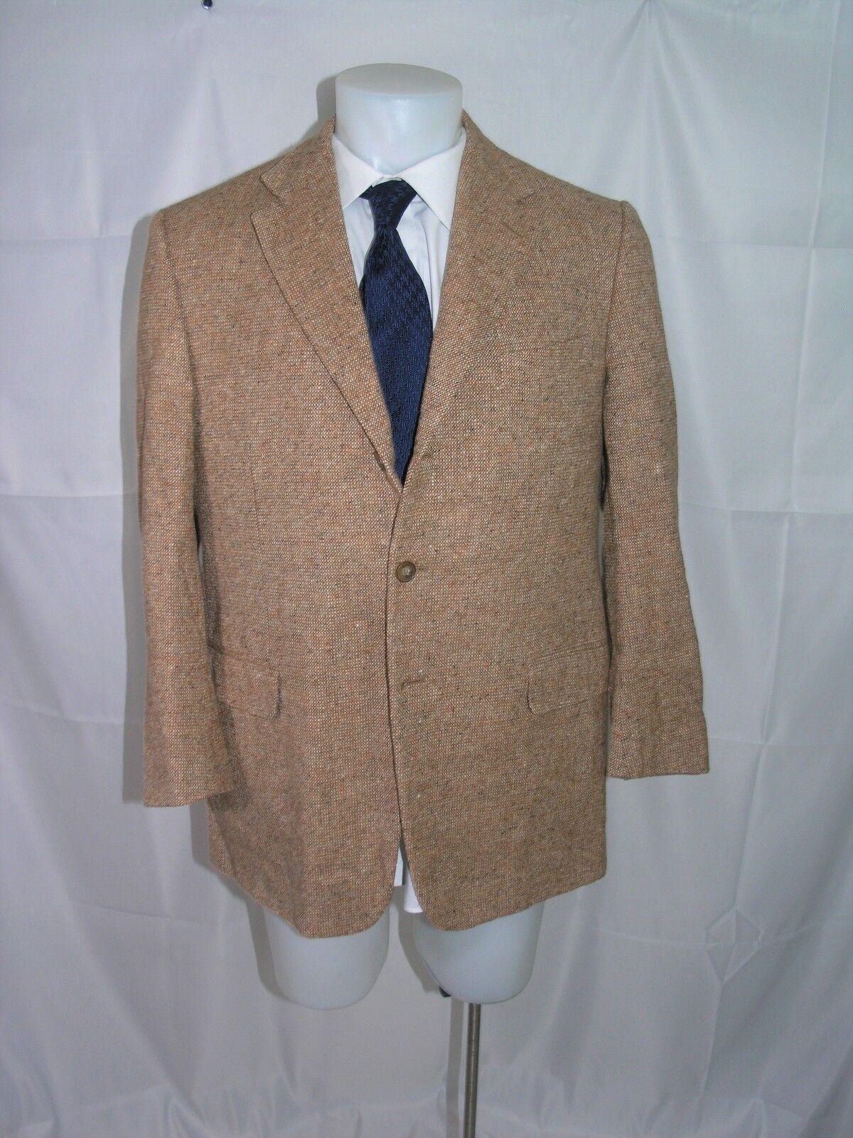 Ermenegildo Zegna Su Misura Tweed Three-Roll-Two Positano Fit Blazer 42 S
