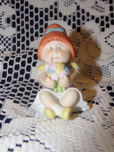 Vintage 1984 CABBAGE PATCH Ceramic//Porcelain Figurine REDHEAD PONYTAIL GIRL