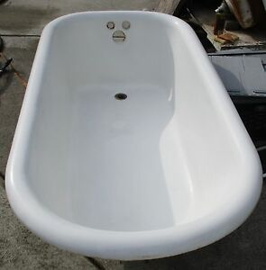 Image Is Loading VINTAGE 5 FOOT CAST IRON CLAW FOOT TUB