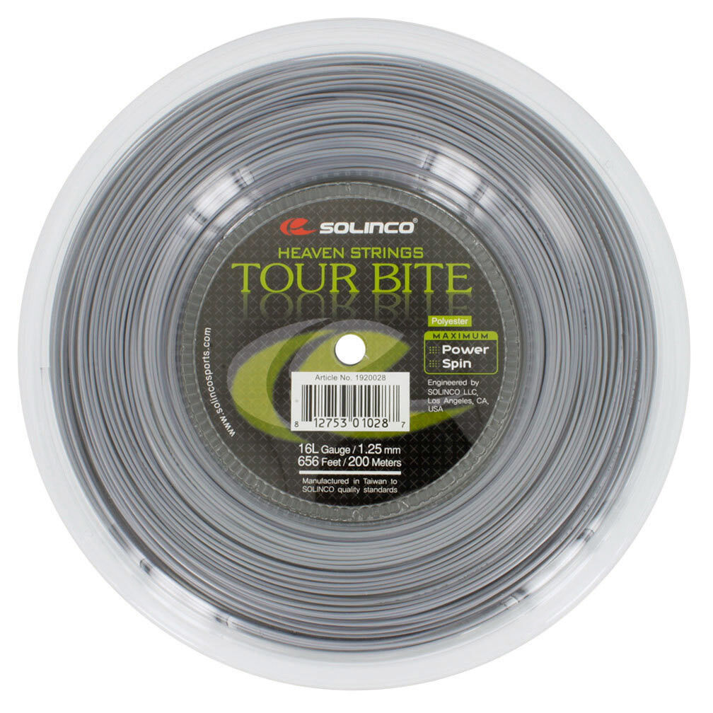 Solinco Tour Bite Tennis String 200m Reel  (All Gauges Available)