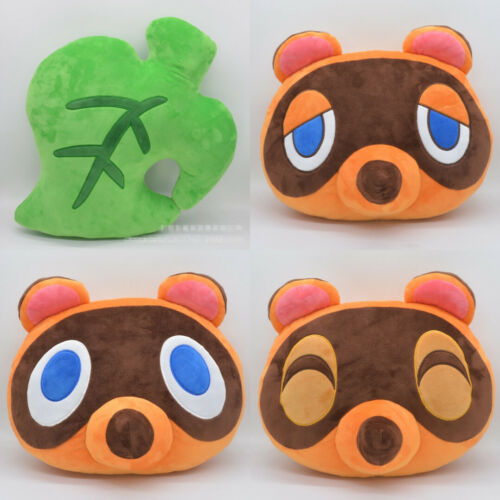 Animal Crossing Tom Nook Timmy Tommy Leaf Game Plush Cushion Pillow Doll Toys