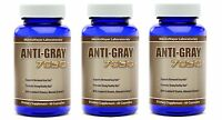 3 Bottles - Anti Gray Hair Catalase Saw Palmetto Horsetail - Highest Quality
