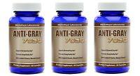 3 Bottles - Anti Gray Hair Catalase Saw Palmetto Horsetail - Highest Quality