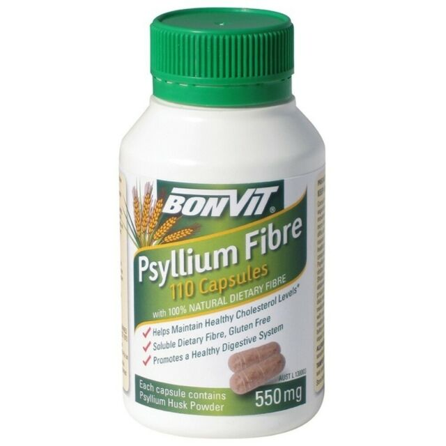 Bonvit Psyllium Fibre 550mg 110 Capsules Supports Healthy Digestive System