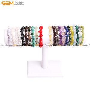 Natural-Beads-Freeform-Chip-Gravel-Beads-Gemstone-Bracelet-7-1-2-034-Fashion-Jewelry