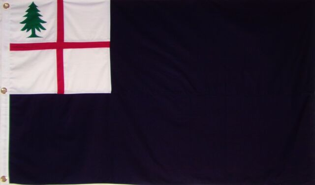 HEAVY DUTY SEWN COTTON BUNKER HILL FLAG - AMERICAN REVOLUTION - NEW ENGLAND