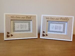 Personalised We Love Our I Love My Dad Daddy Wooden Photo
