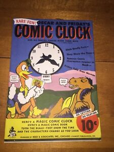 Vintage-1945-Oscar-And-Friday-039-s-Comic-Clock-Magic-Comic-Book-Super-Rare-amp-Fun