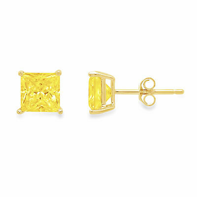 0.2 ct Brilliant Round Cut Solitaire Studs Designer Genuine Flawless VVS1 Pink Simulated Diamond 14K 18K Yellow Gold Earrings Push back
