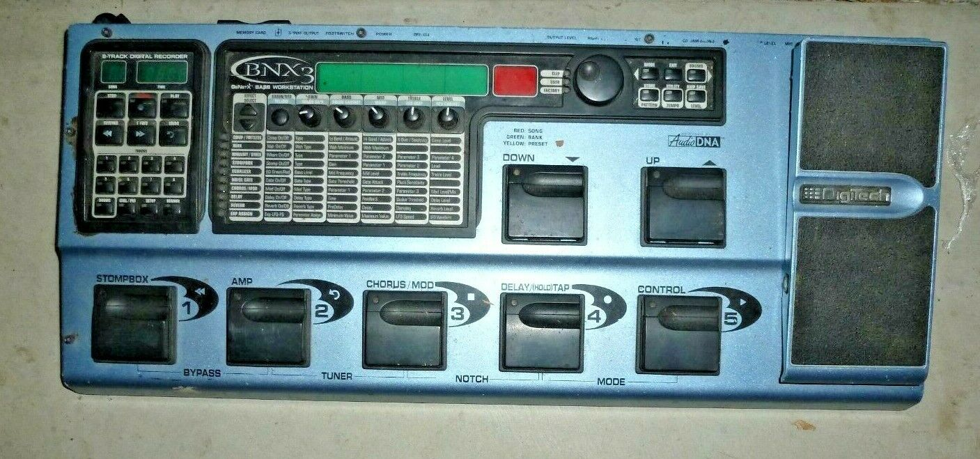 DigiTech BNX-3 GeNetX Guitar Bass Workstation Effects Pedal Digital Recorder