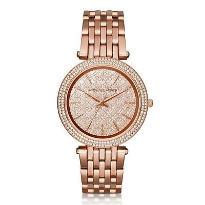 NEW MICHAEL KORS MK3399 LADIES ROSE GOLD DARCI WATCH - 2 YEAR WARRANTY