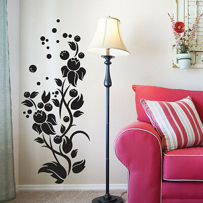 Bubble Flower Vinyl Art Wall Stickers Wall Art Wal Graphics Wall Decals