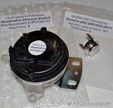 Quadrafire  800/1000/1100i Pellet Stove KIT #2 High Limit & Vacuum Switch +Instr