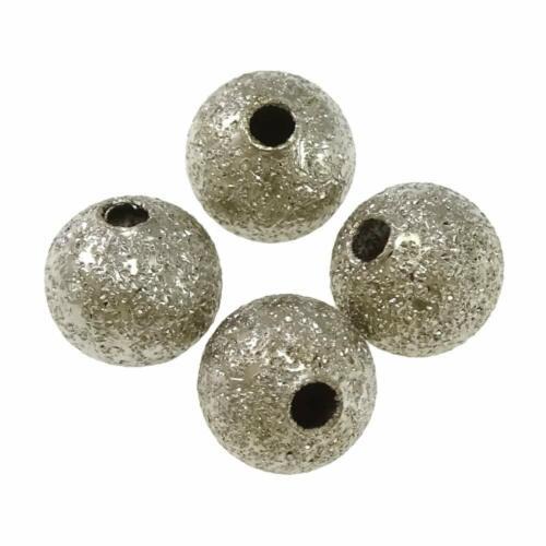 Metal perlas Stardust Alt-plata spacer 4mm aproximadamente 50stk fabricación de joyería m557