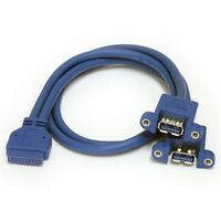 Startech Cable Usb3spnlafhd 2port Panel Mount Usb 3.0 Retail