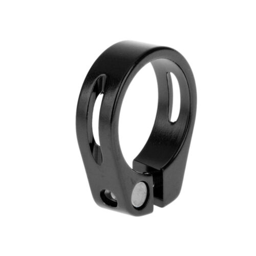 Aluminium Alloy 34.9mm Quick Release Mountain Bike Seat Post Clamp Black