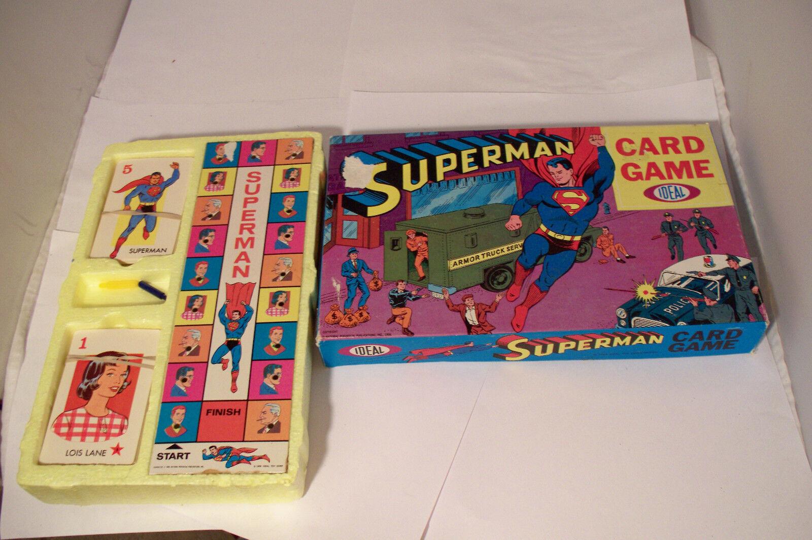 Vintage 1966 Superhomme  voitured Game by Ideal Rare  70% de réduction