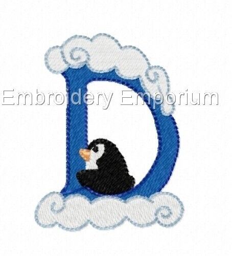 MACHINE EMBROIDERY DESIGNS ON CD OR USB WINTER FONT COLLECTION