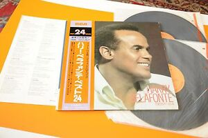 HARRY-BELAFONTE-2LP-BEST-24-JAPAN-NM-AUDIOFILI-OBI-INSERTO