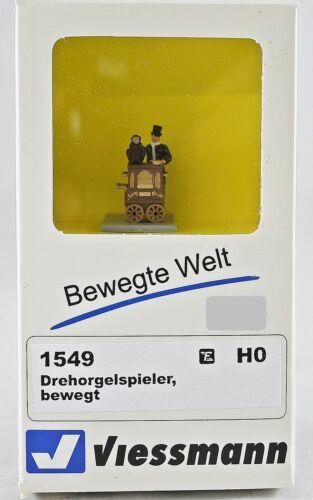Viessmann HO 1549 Drehorgelspieler bewegt Neu mit OVP