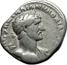 Hadrian  118AD Rare Authentic Silver Ancient Roman Coin PAX Peace i58516