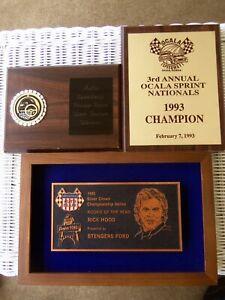 Rickey Rick Hood USAC National Sprint Car United States Auto Club award plaques