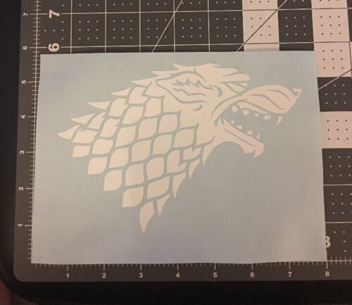 House Stark Sigil vinyl decal sticker Winter is coming Dire Wolf for car,shield