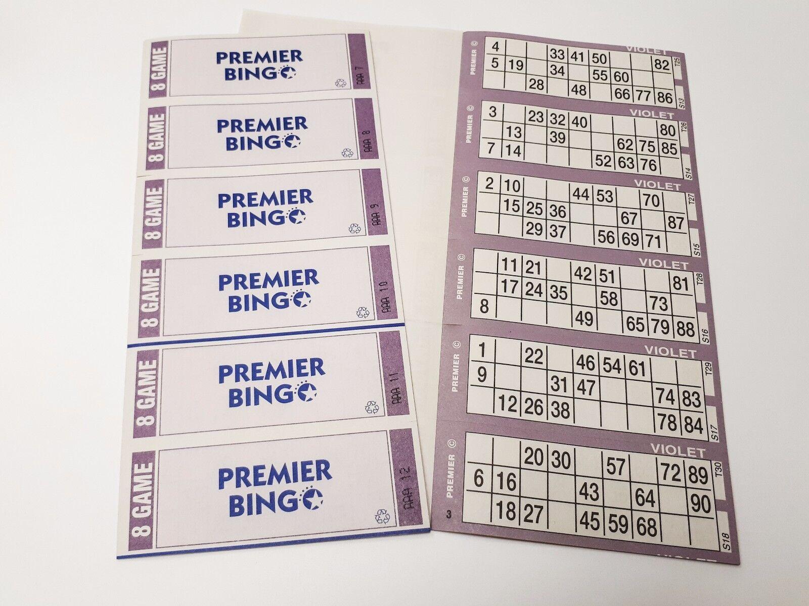 Premier Bingo Tickets 6048 8 Page 6 To View Books